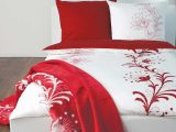 Soliver Bettwsche Satin In Weiss Rot Mit Blumen Muster inside proportions 1000 X 1000